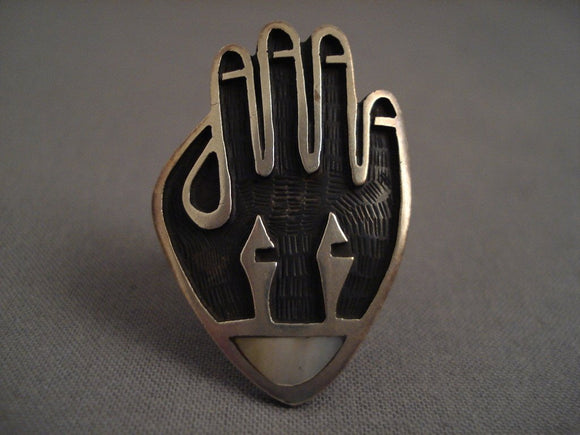 Huge Museum Vintage Hopi hand Native American Jewelry Silver Ring-Nativo Arts