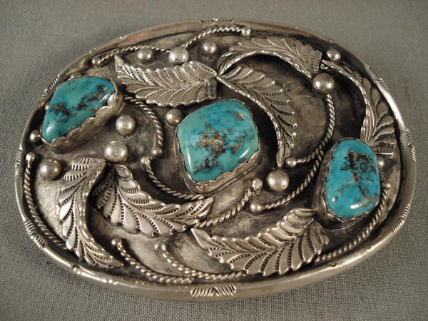 Huge Old Men's Navajo Native American Jewelry jewelry Turquoise Vintage Buckle
