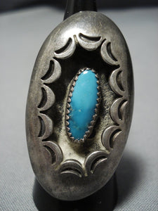 Huge Pillow Cloud Vintage Navajo Sterling Silver Turquoise Native American Jewelry Ring-Nativo Arts