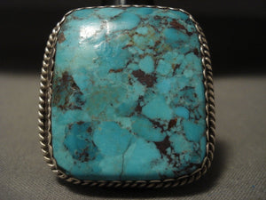 Huge Vintage Navajo Red Spiderweb Turquoise Native American Jewelry Silver Ring-Nativo Arts