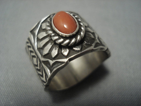 Important Gary Reeves Vintage Navajo Sterling Native American Jewelry Silver Ring-Nativo Arts