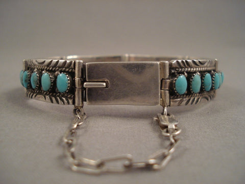 Important Nick Gambino Hinged Vintage Navajo Native American Jewelry Silver Braceletg Old Pawn Sterling-Nativo Arts