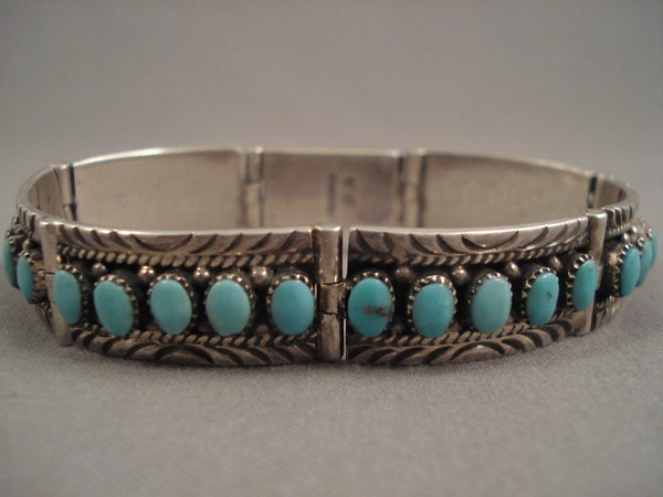 Important Nick Gambino Hinged Vintage Navajo Native American Jewelry Silver Braceletg Old Pawn Sterling