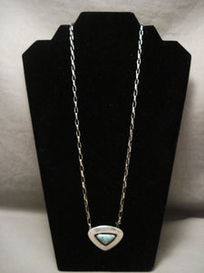 Important Old Hopi Ralph Tawangyaouma Turquoise Necklace-Nativo Arts