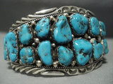 Important!! Tommy Tso Turquoise Vintage Navajo Sterling Native American Jewelry Silver Bracelet Old-Nativo Arts