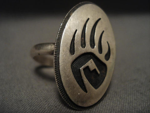 Important Vintage Hopi Native American Jewelry Silver Ring-Nativo Arts