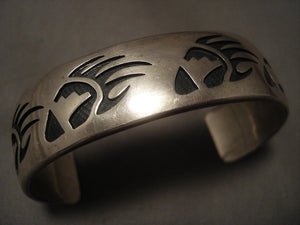Important Vintage Hopi Tony Kyasyousie Native American Jewelry Silver Bracelet Old Vtg Cuff Sterling-Nativo Arts