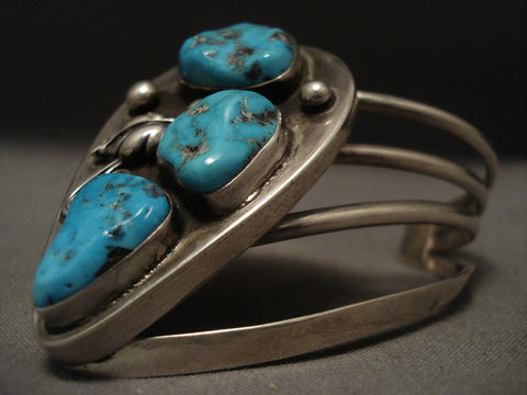 Important Vintage Navajo James Little Native American Jewelry Silver Bracelet-Nativo Arts