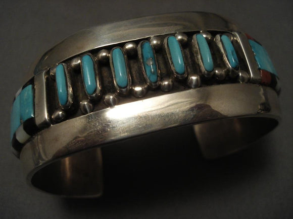 Important Vintage Navajo Jammie King Jr Native American Jewelry Silver Bracelet-Nativo Arts