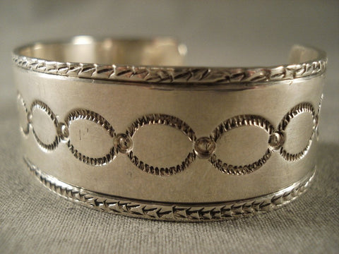 Important Vintage Navajo Jeeo Joe (d.) Native American Jewelry Silver Bracelet-Nativo Arts