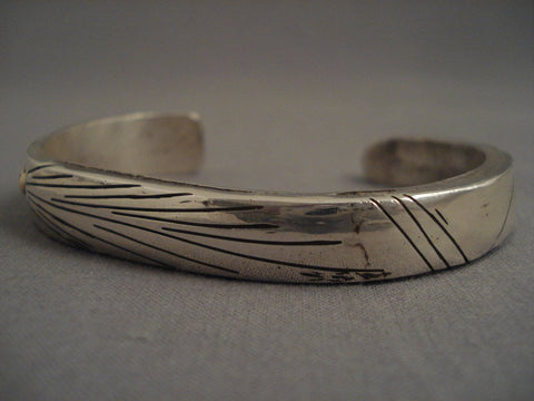 Important Vintage Navajo Jimmie King Jr (ingot Style) Native American Jewelry Silver Gold Bracelet-Nativo Arts