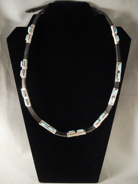 Important Vintage Navajo Jimmie King Jr Native American Jewelry Silver Necklace/ Hat Belt