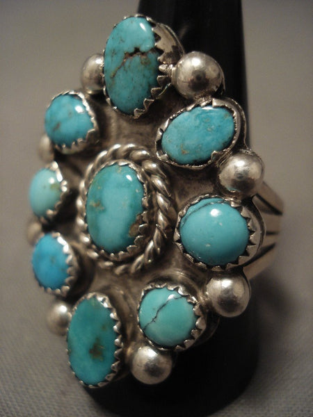 Important Vintage Navajo Kee Joe Benally (d.) Turquoise Native American Jewelry Silver Ring