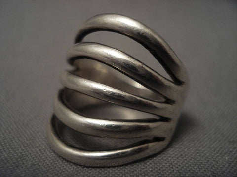 Important Vintage Navajo Kenneth Begay Native American Jewelry Silver Ring-Nativo Arts
