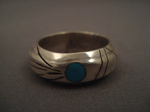 Important Vintage Navajo Native American Jewelry jewelry Jimmie King Jr Turquoise Silve Rring Old Pawn Vtg-Nativo Arts