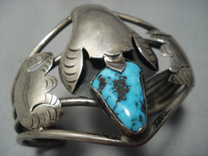 Important!! Vintage Navajo Roy Platero Turquoise Sterling Native American Jewelry Silver Bracelet-Nativo Arts