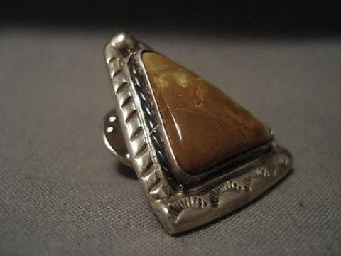 Important Vintage Navajo Tie Tack Native American Jewelry Silver Pin Kee Joe Benally (d.)-Nativo Arts