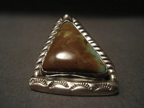 Important Vintage Navajo Tie Tack Native American Jewelry Silver Pin Kee Joe Benally (d.)