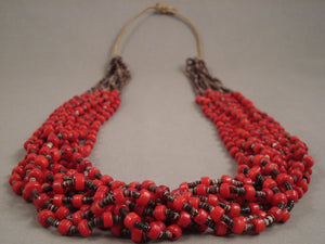Important Whitegoat Coral Heishi Navajo Native American Jewelry jewelry Necklace- 180 Grams!-Nativo Arts