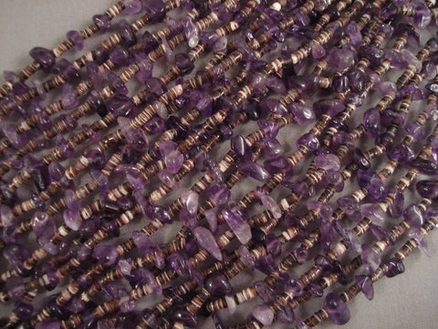 Important Whitegoat Navajo Native American Jewelry jewelry Amethyst Necklace- One Of The Best-Nativo Arts