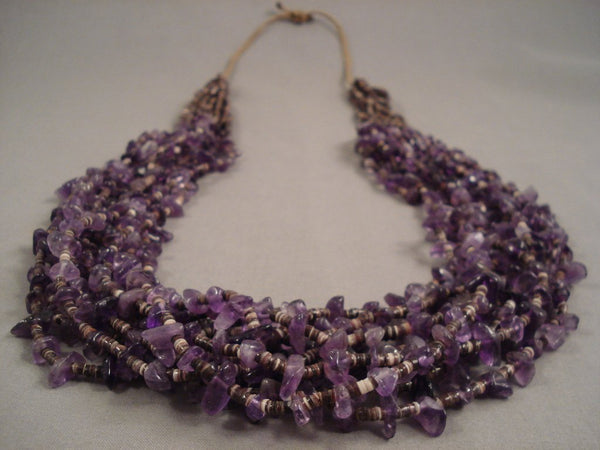 Important Whitegoat Navajo Native American Jewelry jewelry Amethyst Necklace- One Of The Best