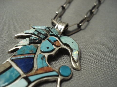Importnt Chee Family Vintage Navajo Dancing Kachina Native American Jewelry Silver Necklace-Nativo Arts