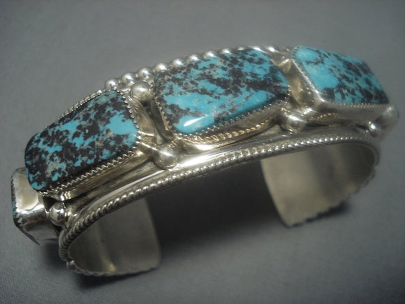 Incredible Vintage Navajo Native American Jewelry jewelry Turquoise Sterling Silver Bracelet Old-Nativo Arts