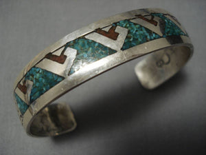 Incredible Vintage Navajo Native American Sterling Silver Turquoise Bracelet-Nativo Arts