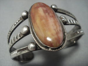 Incredible Vintage Navajo Sterling Silver Native American Jewelry Bracelet Cuff Old-Nativo Arts