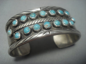 Incredible Vintage Navajo Sterling Silver Native American Jewelry Jewelry Bracelet-Nativo Arts