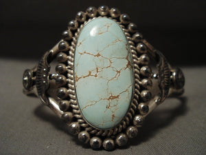 Intense & Natural #8 Turquoise Navajo Native American Jewelry Silver Bracelet-Nativo Arts