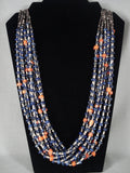 Lake Of Lapis Modernistic Navajo Native American Jewelry jewelry Coral Necklace-Nativo Arts