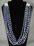 Lapis Of The Earth Navajo Native American Jewelry jewelry Shell Necklace-Nativo Arts