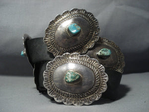 Magnificent Vintage Hopi Lew Kagenvema Sterling Native American Jewelry Silver Concho Belt Old-Nativo Arts