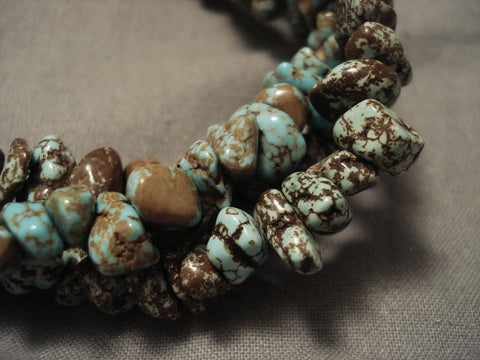 Magnificent Vintage Navajo Native American Jewelry jewelry #8 Turquoise Necklace- Unique Squaw Wrap-Nativo Arts