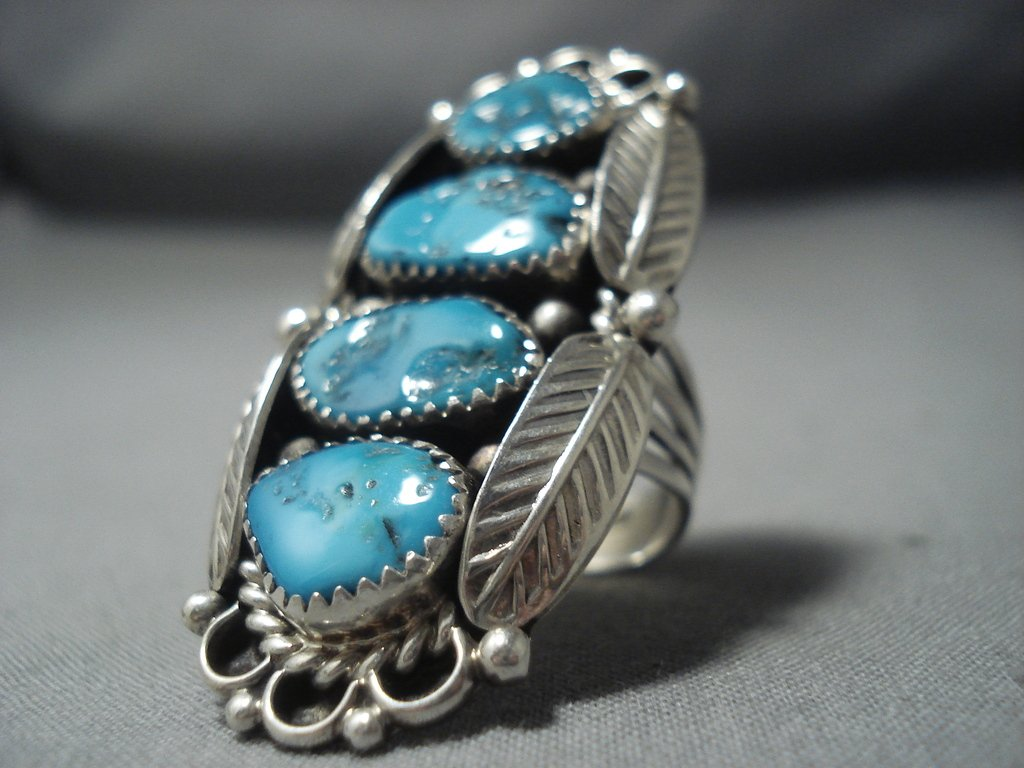 Magnificent Vintage Navajo Turquoise Sterling Native ...
