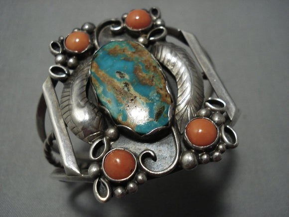 Marvelous Nvintage Navajo Native American Jewelry jewelry Turquoise Sterling Silver Bracelet-Nativo Arts