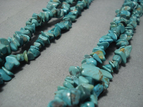 Massive Vintage Navajo Native American Jewelry jewelry Turquoise Necklace Old Pawn-Nativo Arts