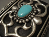Mighty Flank Vintage Naqvajo Turquoise Native American Jewelry Silver Ketoh Bracelet Old-Nativo Arts