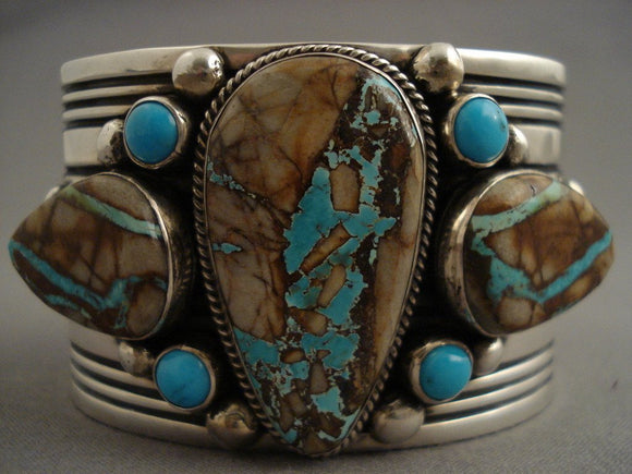 Mind Blowing Vintage Navajo Native American Jewelry jewelry Mega Royston Turquoise Bracelet-Nativo Arts
