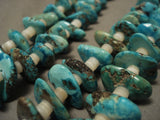 Mind Blowing Vintage Santo Domingo Very Old Turquoise Necklace-Nativo Arts