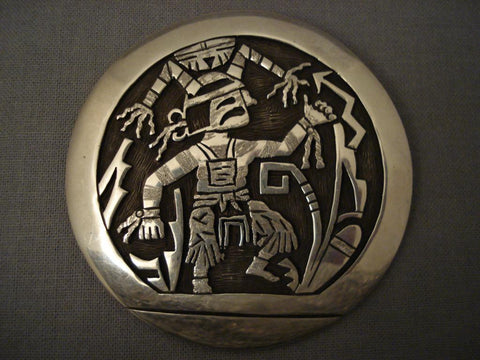 Museum Hopi Bryan Kagenvema Native American Jewelry Silver Pin-Nativo Arts