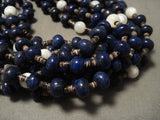 Museum Modernistic Navajo Native American Jewelry jewelry 'Rounded Lapis' Necklace-Nativo Arts