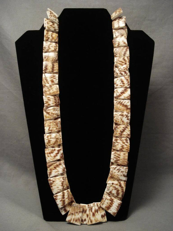 Museum Modernistic Santo Domingo squared Shell Necklace-Nativo Arts