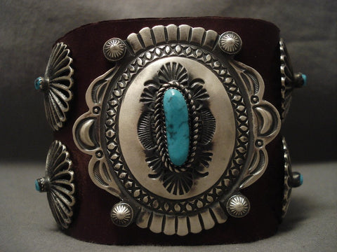 Museum Navajo Hand Wrought Native American Jewelry Silver Turquoise Ketoh Bracelet-Nativo Arts