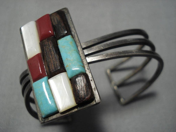 Museum Quality Vintage Native American Navajo Royston Turquoise Sterling Silver Bracelet Old