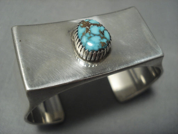 Museum Quality Vintage Navajo Bisbee Turquoise Sterling Native American Jewelry Silver Bracelet-Nativo Arts