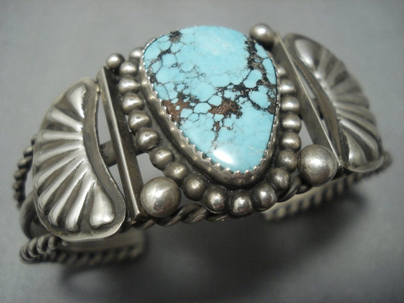 Museum Quality Vintage Navajo Red Mountain Turquoise Sterling Native American Jewelry Silver Bracelet-Nativo Arts
