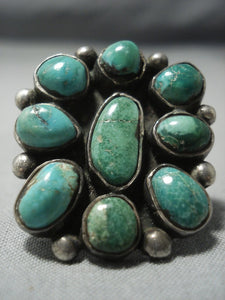 Museum Quality!! Vintage Navajo Royston Turquoise Sterling Native American Jewelry Silver Ring Old-Nativo Arts