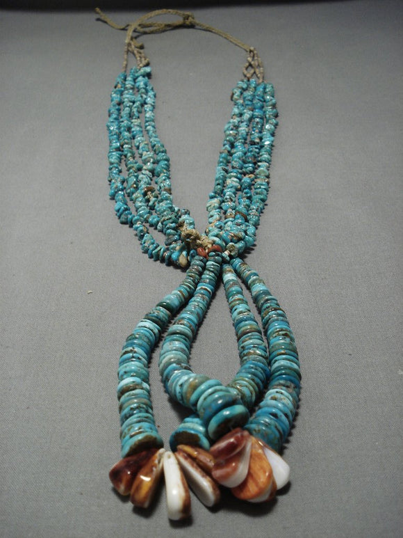Museum Quality Vintage Navajo Turquoise Jacla Necklace Native American Jewelry-Nativo Arts